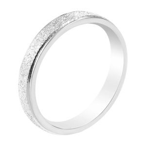 Frosted silver ring